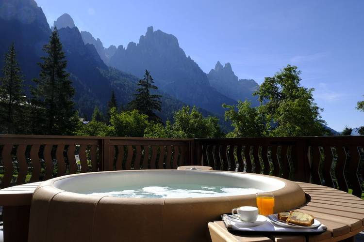 Jacuzzi residence hotel langes san martino di castrozza