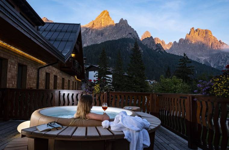 Empfangshalle residence hotel langes san martino di castrozza