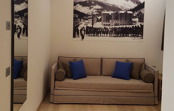 Superior two room apartment dedicated to hermann buhl residence hotel langes san martino di castrozza